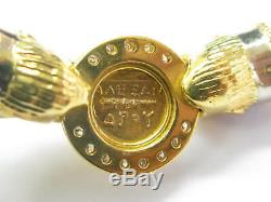 Ancient Greek Gold Coin Diamond Necklace 18Kt Yellow Gold. 56Ct 16