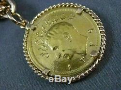 Antique Large 18kt & 22k Rose & Yellow Gold Persian English Coin Bracelet #23621