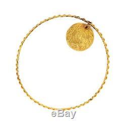 Antique Vintage Nouveau 18k 22k Gold Islamic Arabic Prayer Coin Charm Bracelet
