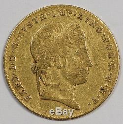 Austria 1848 A Gold Ducat Coin Fine/VF Ferdinand I Fr-481 KM-2262 0.1107 OZ AGW