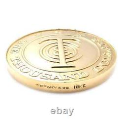 Authentic! Tiffany & Co Tiffany Money $1,000 18k Solid Yellow Gold Token Coin