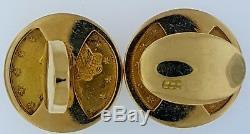 AuthenticPIAGET$5 Liberty Head Gold Coins 22KCuff Links14K FrameSwiss Made