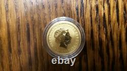BU 1/10 oz 9999 Fine Gold Australian Kangaroo 2013
