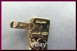 BULGARI 18K Yellow Gold & Diamond Roman Coin Link Bracelet Vintage Monete