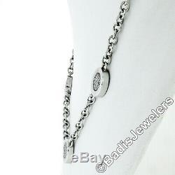 BULGARI Bvlgari 18k Gold Diamond Black Onyx Reversible Disk Coin Chain Necklace