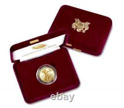 BUY HERE! 1- 2021-W 1/2oz Fine Gold Proof Am Eagle Coin(T-1) +US Mint Pres. Cs