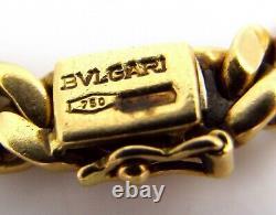Bulgari Bvlgari 18K Yellow Gold Ancient Bronze Coin Curb Link Necklace