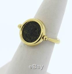 Bulgari Bvlgari Monete 18k Gold Ancient Coin Ring Size 7.5