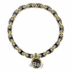 Bvlgari Bulgari 18k Gold Hematite Ancient Coin Ruby Pendant Necklace