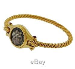 Bvlgari Bulgari Ancient Coin Ruby 18k Gold Bracelet