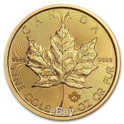 CH/GEM BU 2019 1 oz. $50 Gold Maple Leaf Candian Coin 1 Ounce. 9999 Fine Gold