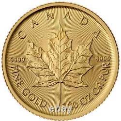 Canada 1/10 oz. 9999 Fine Gold Maple Leaf Coin Gem Uncirculated Random Year