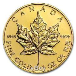 Canada 1 oz Gold Maple Leaf. 9999 Fine (Random Year) SKU #9