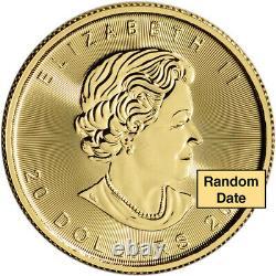 Canada Gold Maple Leaf 1/2 oz $20 BU. 9999 Fine Random Date