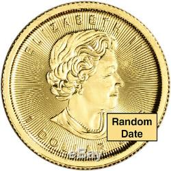 Canada Gold Maple Leaf 1/20 oz $1 BU. 9999 Fine Random Date