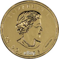 Canada Gold Maple Leaf 1 oz $50.9999 Fine Random Year Five (5) Coins