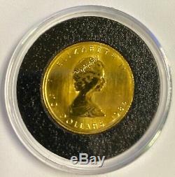 Canada Gold Maple Leaf BU 1/4 oz. Fine Gold 10 Dollars SEALED WOW OH MY