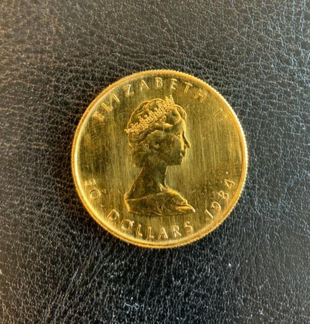 Canada Gold Maple Leaf Coin 1 Oz $50.9999 Fine 1984