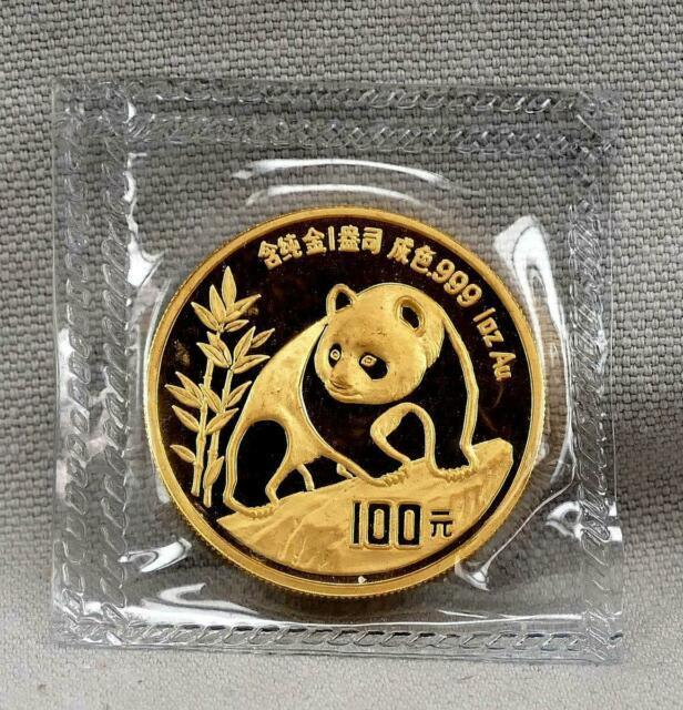 China 1990 100 Yuan 1 Ounce Panda. 999 Fine Gold Coin! Mint Sealed