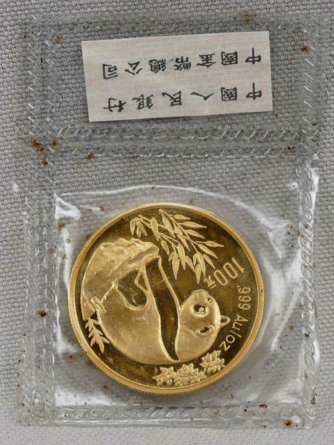 China 1993 100 Yuan 1 Ounce Panda. 999 Fine Gold Coin