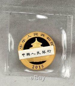 China 2015 500 Yuan 1 Ounce Panda. 999 Fine GOLD Coin! Sealed