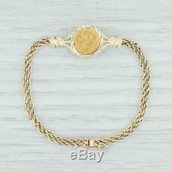 Chinese Pandora Coin Bracelet 14k & 999 Fine Gold 7 Aunthentic 1991 5 Yuan