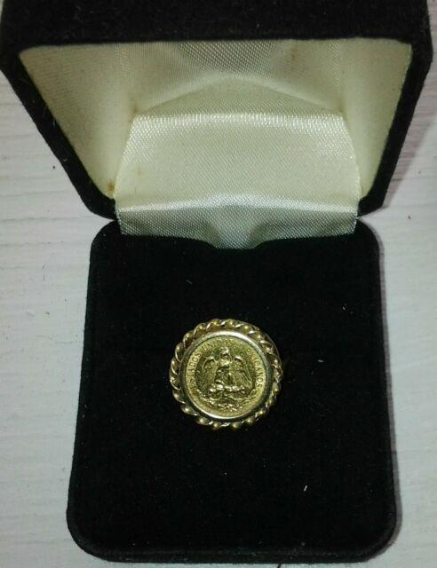 Coin Ring 14kt Ladys Solid Gold(22kt Dos Pesos 1945)