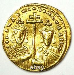 Constantine VII with Romanus II AV Solidus Gold Coin 913-959 AD VF (Very Fine)
