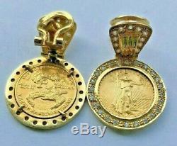 ESTATE SALE Fine Unique US$5 GOLD Coins Earrings LIBERTY 1939 (set of 2)