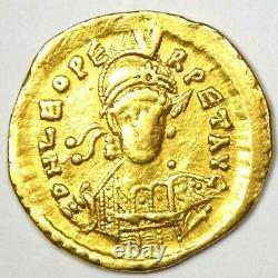 Eastern Roman Empire Leo I AV Solidus Gold Coin 457-474 AD VF (Very Fine)