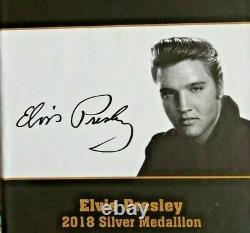 Elvis Presley 2018 Silver/Gold Medallion, coin 1 Troy ounce. 9999 Fine Silver