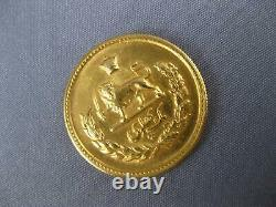Estate 22kt Yellow Gold 3d 1324 Persian One Pahlavi Solid Coin #27418