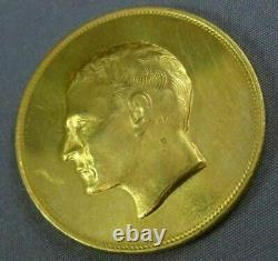 Estate Extra Large 22kt Yellow Gold 3d Persian King 2500 Anniversary Coin #26325