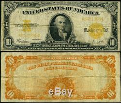 FR. 1173 $10 1922 Gold Certificate Fine Gold Coin Note