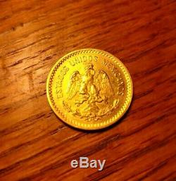 Fine Antique 1906 Mexican Gold Coin Diez Pesos 900 Purity Mexico City Mint