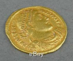 Fine Antique AD 364-375 24k Gold Roman Emperor Valentinian I Solidus Coin