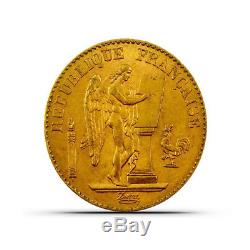 France 20 Francs Angel Gold Coin 0.1867 oz Random Date Extremely Fine (XF)