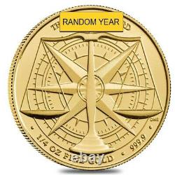 Great Britain 1/4 oz The Gold Standard Gold Coin. 9999 Fine BU (Random Year)