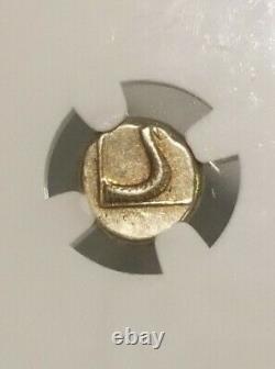 Isl Of Lesbos, Mytilene ZEUS N Snake NGC XF Fine Style Ancient Hecte Coin