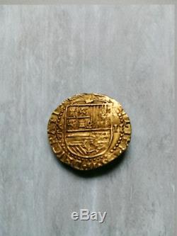 Labrit1512. Espectacular 2 Escudos de Felipe II, Sevilla. Spain gold coin VERY FINE