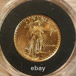 Liberty American Eagle Gold Coin 1/10 OZ. Fine Gold 5 Dollars. 1986