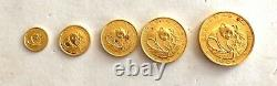 Look 1988- Chinese Panda 5.999 Fine Gold Proof Coin Set- 1 Oz- 1/20th Oz