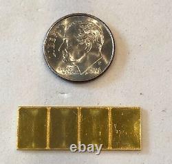 Look 4- 1 Gram, Valcambi Bars, 999.9 Fine Gold Combi Bar