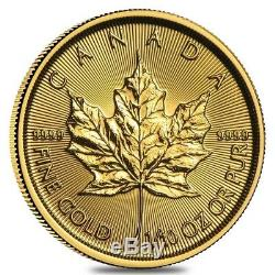 Lot of 10 2019 1/10 oz Canadian Gold Maple Leaf $5 Coin. 9999 Fine BU (Sealed)