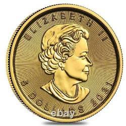 Lot of 10 2021 1/10 oz Canadian Gold Maple Leaf $5 Coin. 9999 Fine BU (Sealed)