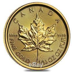 Lot of 2 2020 1/10 oz Canadian Gold Maple Leaf $5 Coin. 9999 Fine BU (Sealed)