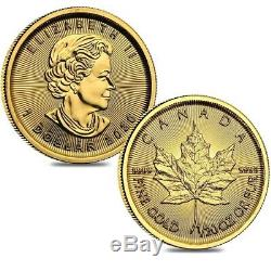 Lot of 2 2020 1/20 oz Canadian Gold Maple Leaf $1 Coin. 9999 Fine BU (Sealed)