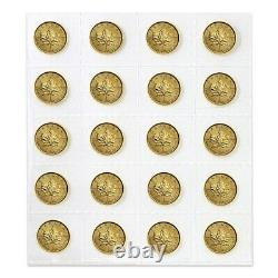 Lot of 20 2021 1/10 oz Canadian Gold Maple Leaf $5 Coin. 9999 Fine BU (Sealed)
