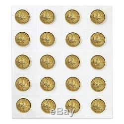 Lot of 5 2019 1/10 oz Canadian Gold Maple Leaf $5 Coin. 9999 Fine BU (Sealed)