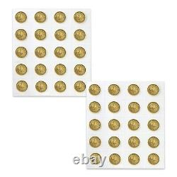 Lot of 5 2021 1/10 oz Canadian Gold Maple Leaf $5 Coin. 9999 Fine BU (Sealed)